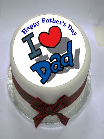 Father's Day Edible Cake Topper (Option 3)